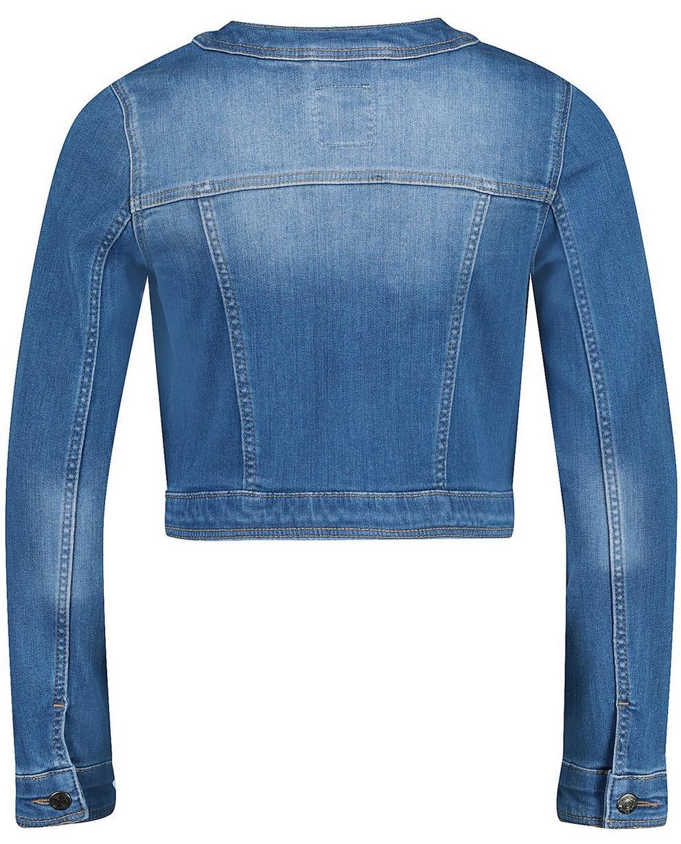 Blazer - Helltürkis - Jeansjacke mit Waschung